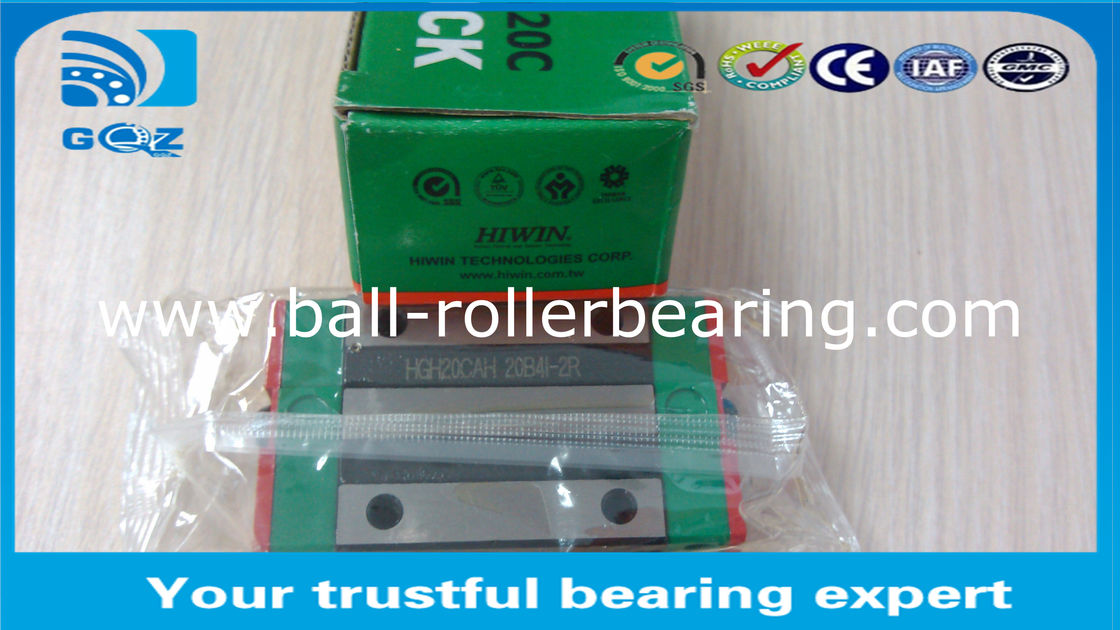Lathe Machine HGH25HA Linear Ball Bearing Guideway High Precision 23 X 48 X 40 mm