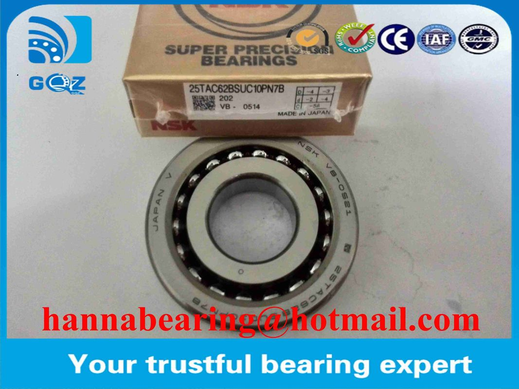 Screw Support Bearing 25TAC62BDUC10PN7B Angular Contact Thrust Ball Bearing  25x62x30mm