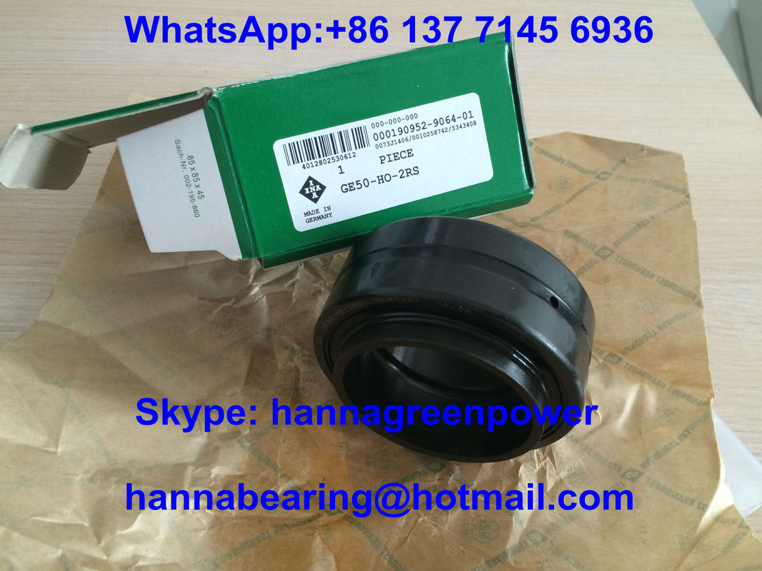 GE50-HO-2RS Radial Spherical Plain Bearing with Lip Seals 50x75x43mm