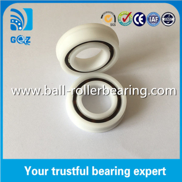 F6005 POM Plastic Flange Deep Groove Ceramic Ball Bearings ID 25mm