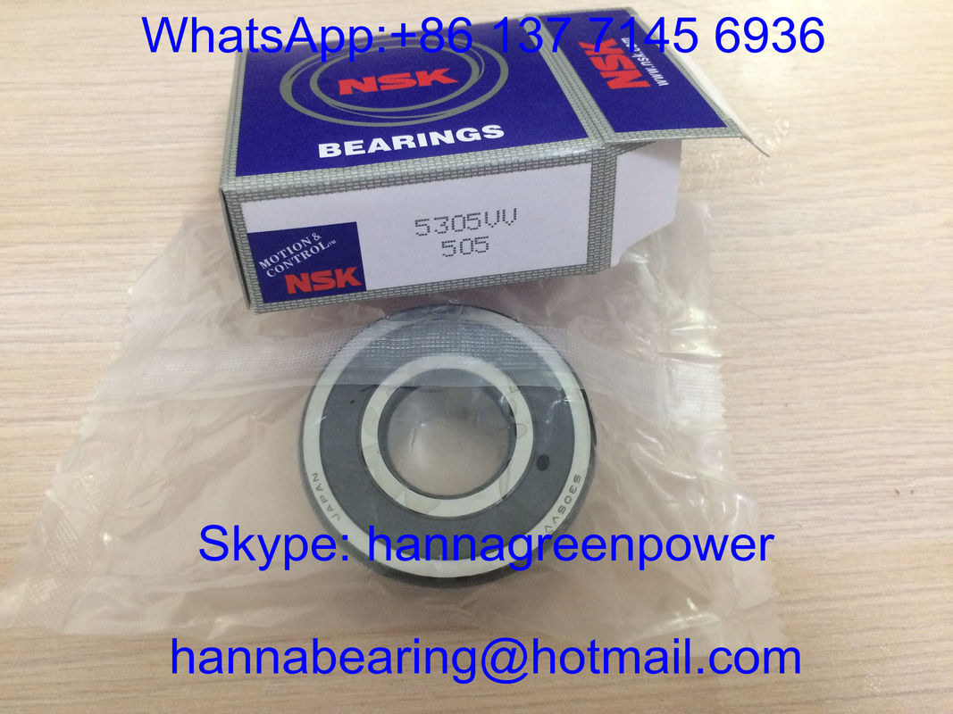5305-2RS / 5305VV / 3305-2RS / 3305-2Z Double Row Angular Contact Ball Bearing 25*62*25.4mm
