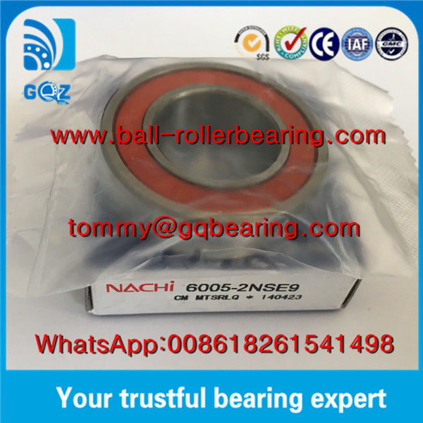 Japan Origin Rubber Sealed Deep Groove Ball Bearing NACHI 6005-2NSE9