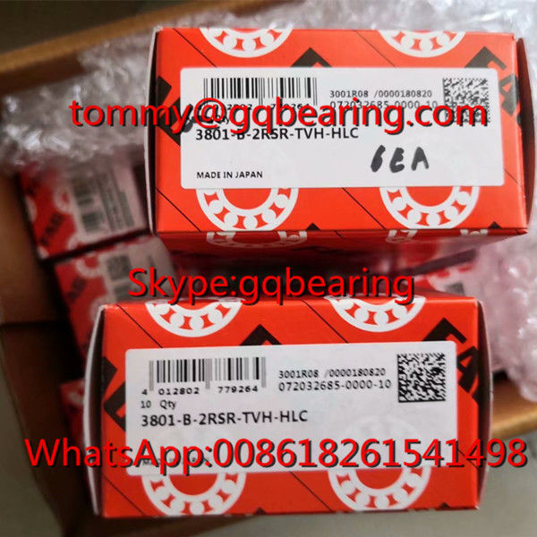 Japan Origin FAG 3801-B-2RSR-TVH-HLC Nylon Cage Double Row Angular Contact Ball Bearing